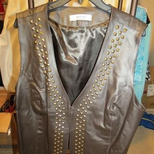 Ladies Real leather vest With Size 18/20